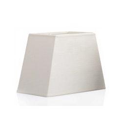 Lampskärm i benvitt linne, rektangulär, 20 x 12 cm