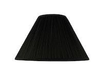 Lampskärm, rund, 35 cm, svart, polyester
