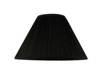 Lampskärm, rund, 50 cm, svart, polyester