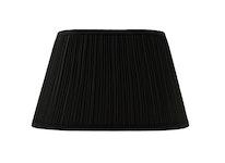 Lampskärm, oval, 45 cm, svart, polyester