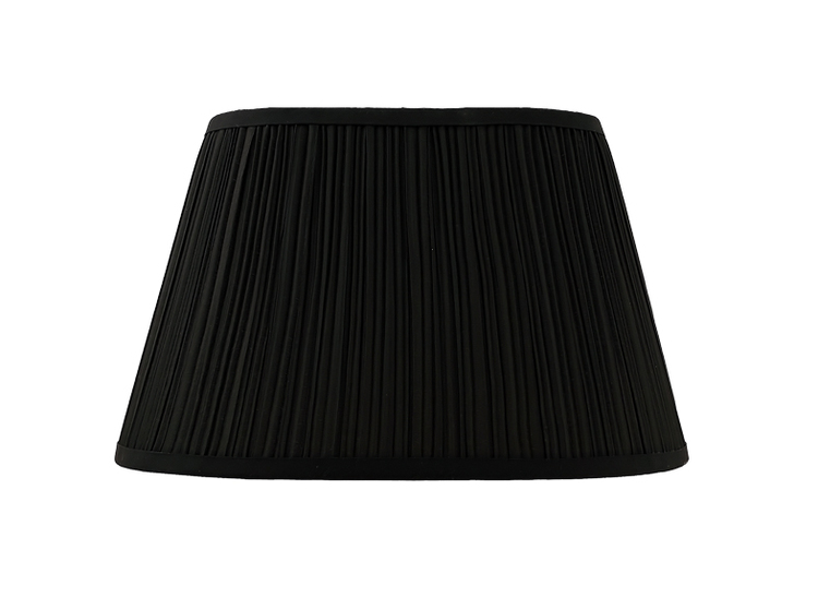 Lampskärm, oval, 50 cm, svart, polyester