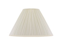 Lampskärm, rund, 35 cm, vit, polyester