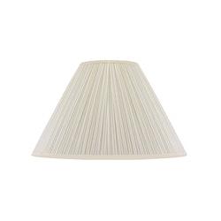 Lampskärm, rund, 42 cm, vit, polyester