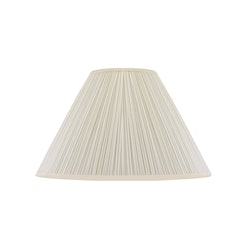 Lampskärm, rund, 45 cm, vit, polyester
