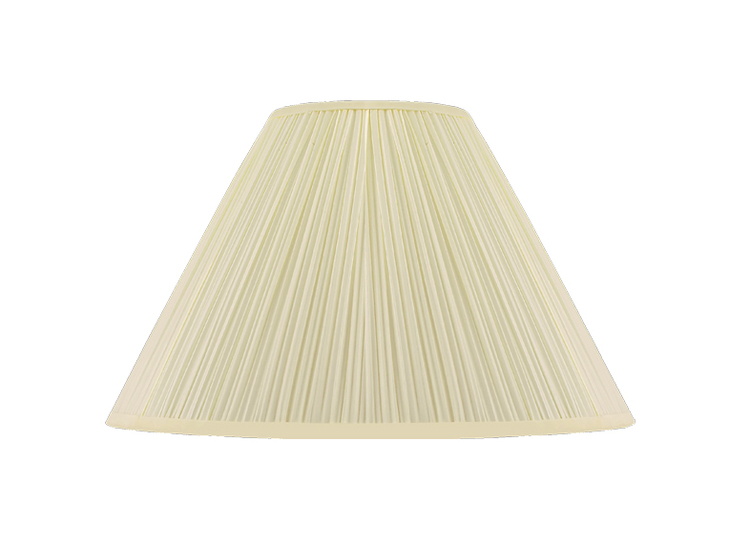Lampskärm, rund, 35 cm, antikvit, polyester