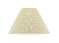 Lampskärm, rund, 40 cm, antikvit, polyester