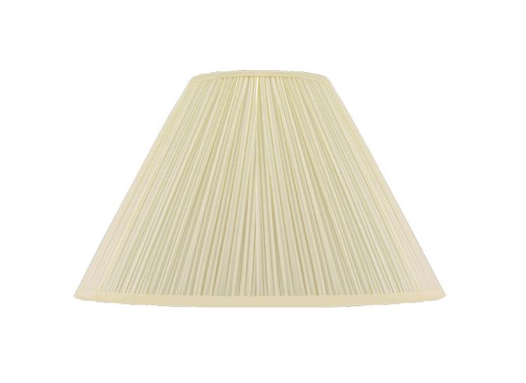 Lampskärm, rund, 42 cm, antikvit, polyester