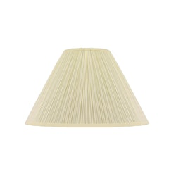 Lampskärm, rund, 50 cm, antikvit, polyester