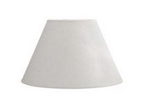 Lampskärm, rund, linne, offwhite, 25 cm i diameter