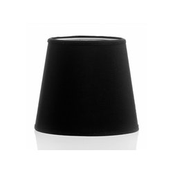 Lampskärm i svart chintz,17 cm