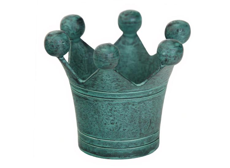 Servettring i bronserad mässing i form av kungakrona