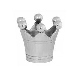 Servettring i nickelpläterad aluminium i form av kungakrona