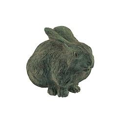 Kanin, sittande, 21 cm, antikgrön