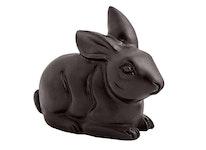 Kanin i brons, sittande, 9 cm, brun, blank