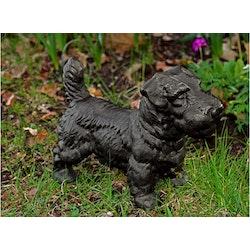 Hund för utomhusbruk, aluminium som epoxlackerats, svart, med längd 34 cm