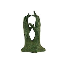 Händer, uppsträckta, 30 cm gjorda i brons