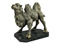 Kamel i brons, 25 cm, brunpatinerad