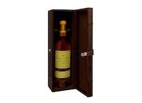 Box i läder för en vinflaska