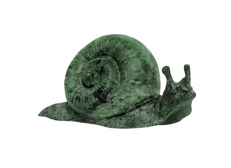 Snigel , större, i brons, 26 cm