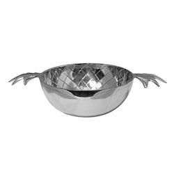 Skål, ananas, större, förnicklad aluminium, Mr Fredrik