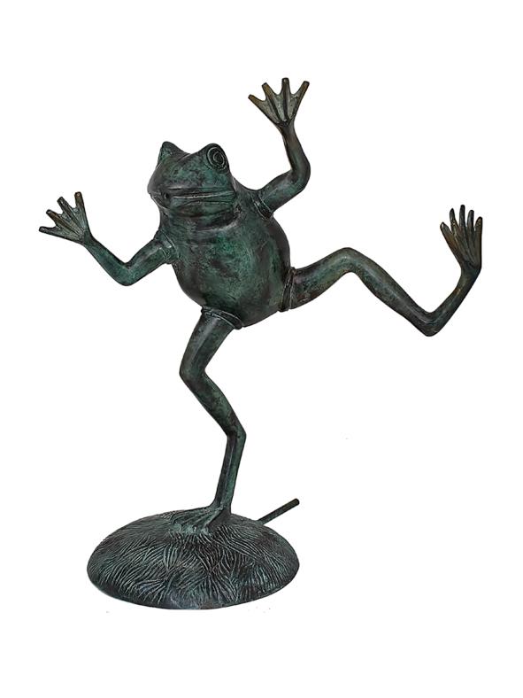 "Fontängroda i brons, 40 cm ""Funny frog"""