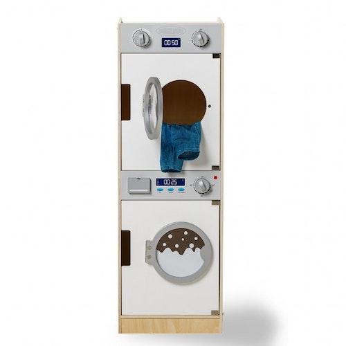 Tvättmaskin och torktumlare för lek