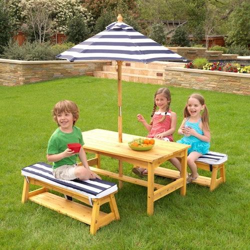 Trädgårdsbord och bänkar-OUTDOOR TABLE & BENCH SET