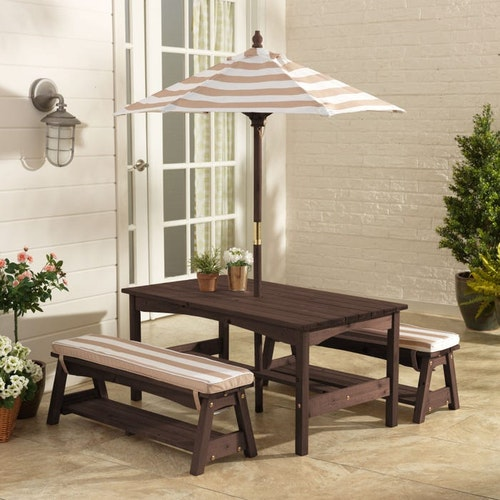 OUTDOOR TABLE & BENCH SET
