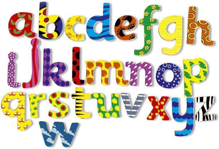 Små magnetiska bokstäver