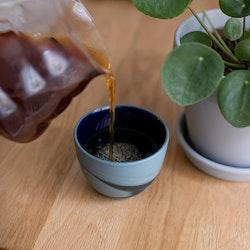Small Smoke Cup Black & Grey 125 ml