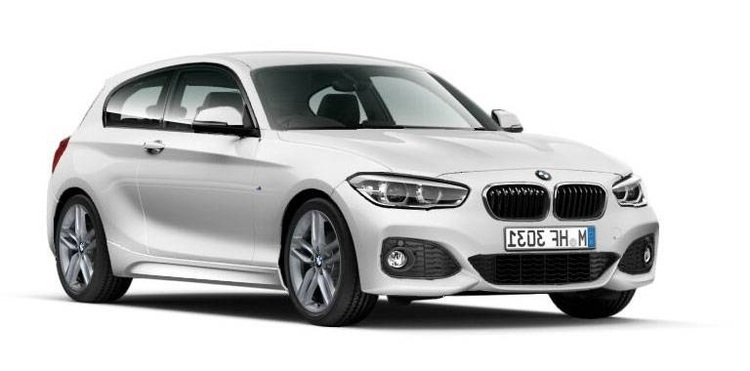 Solfilm til BMW 1-serie 3-d. Ferdig tilpasset solfilm til alle BMW biler.