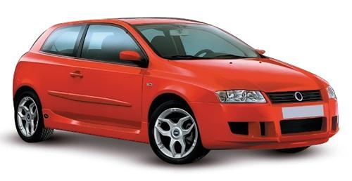 Solfilm til Fiat  Stilo 3-dørs. Ferdig tilpasset solfilm til alle Fiat biler.