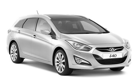 Solfilm til Hyundai i40 Stasjonsvogn. Ferdig tilpasset solfilm til alle Hyundai biler.