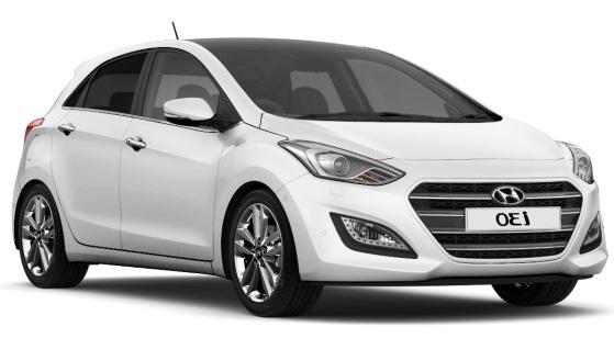 Solfilm til Hyundai i30 5-d. Ferdig tilpasset solfilm til alle Hyundai biler.