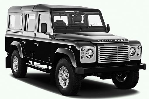Solfilm til Land Rover Defender 110. Ferdig tilpasset solfilm til alle Land Rover biler.