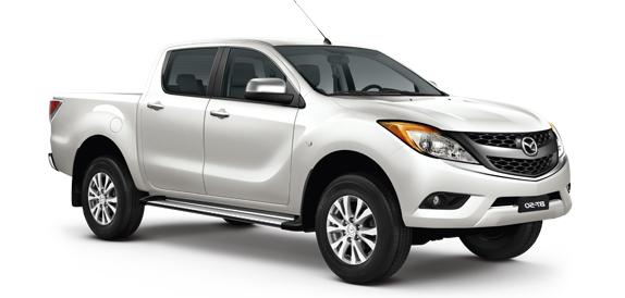 Solfilm til Mazda BT-50 Double Cab. Ferdig tilpasset solfilm til alle Mazda biler.