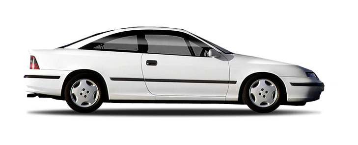 Solfilm til Opel Calibra. Ferdig tilpasset solfilm til alle Opel biler.