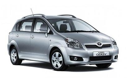 Solfilm til Toyota Corolla Verso. Ferdig tilpasset solfilm til alle Toyota biler.