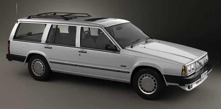 Solfilm til Volvo 765. Ferdig tilpasset solfilm til alle Volvo biler.