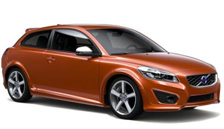 Solfilm til Volvo C30. Ferdig tilpasset solfilm til alle Volvo biler.
