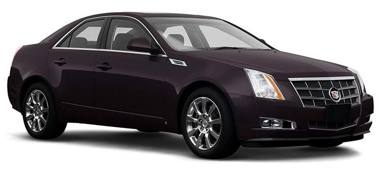 Solfilm til Cadillac CTS Sedan. Ferdig tilpasset solfilm til alle Cadillac biler.