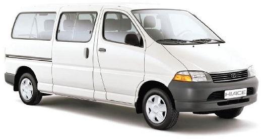 Solfilm til Toyota Hiace alle årsmodeller.