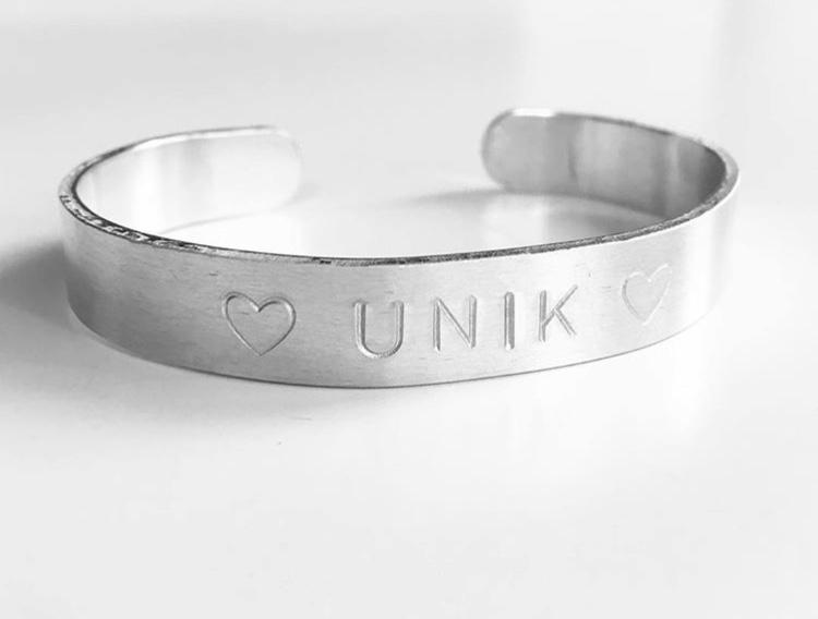 """Armband """"Anna"""" i aluminium"""