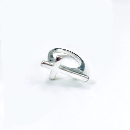Fingerring silverpläterad