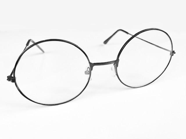 Runda glasögon i metall
