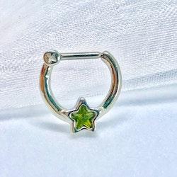 Septum klicker med grön stjärna