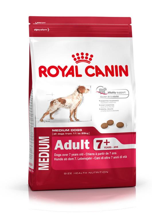 Royal Canin MEDIUM ADULT 7+, flera storlekar