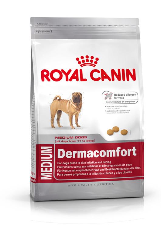 Royal Canin MEDIUM DERMACOMFORT, flera storlekar