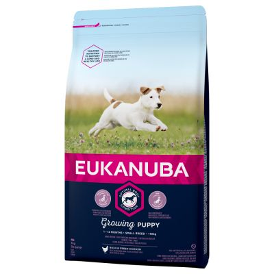 Valp Eukanuba puppy small breed, olika storlekar