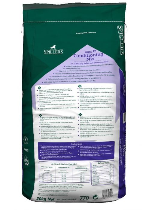 SPILLERS Shine+ Conditioning Mix 20kg
